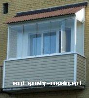 Остекление и обшивка балкона.