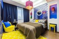 Яркие цвета в дизайне спальни