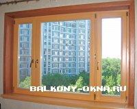 Деревянные окна в современной квартире